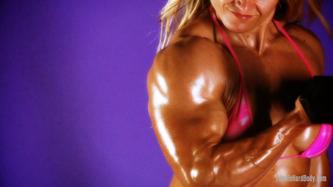 Female Hard Body - Brigita Brezovac in naked dumbbell session